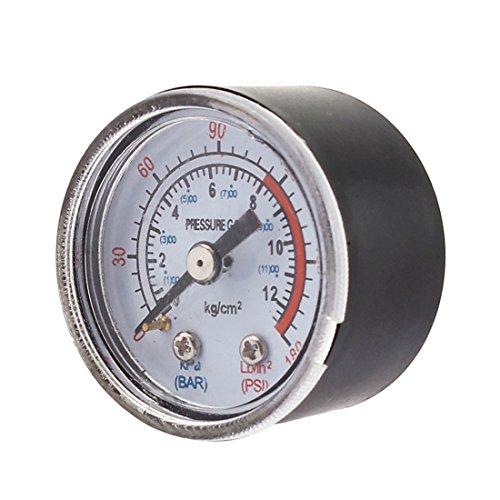 uxcell Air Compressor 1/8 PT Male Threaded 0-180PSI 0-12Kg/cm2 Pressure Gauge