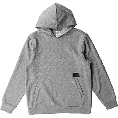 Crooks & Castles Mens Links University Hoody Pullover Sweatshirt Medium Heather Grey