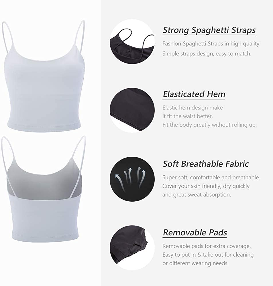 La Nikar Yoga Gym Sports Bras for Women Breathable Mini Camisole Soft Top Corp for Workout Fitness with Removable Padded