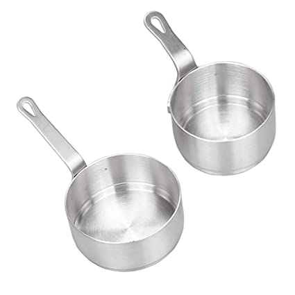SM SunniMix 2x Sartenes de Chef de Sopa Menaje de Cocina Antiadherente Perfecto para Calentar Leche