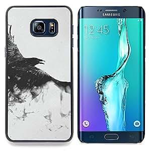 - Flying Majestic Hawk - - Cubierta del caso de impacto con el patr??n Art Designs FOR Samsung Galaxy S6 Edge Plus Queen Pattern