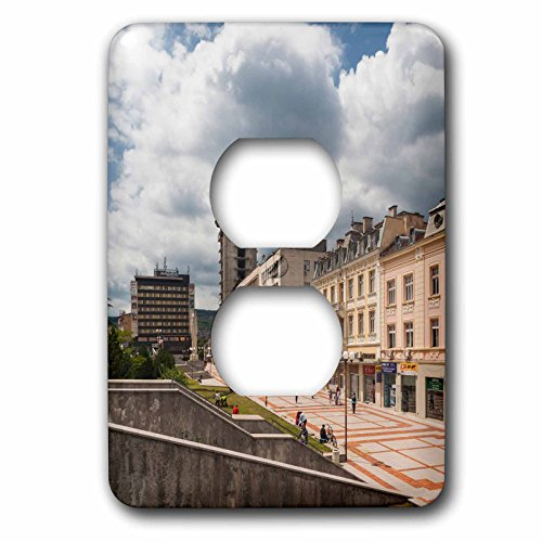 Danita Delimont - Architecture - Bulgaria, Shumen, unfinished Post Office tower - Light Switch Covers - 2 plug outlet cover (lsp_227083_6) (Tower Post Office)