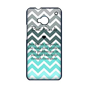 Best Friend Tiffany Fade Turquoise Chevron HTC ONE M7 Best Durable PVC Cover Case by runtopwell