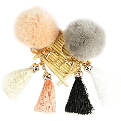 Roniky Tassel Keychain Rabbit Charm