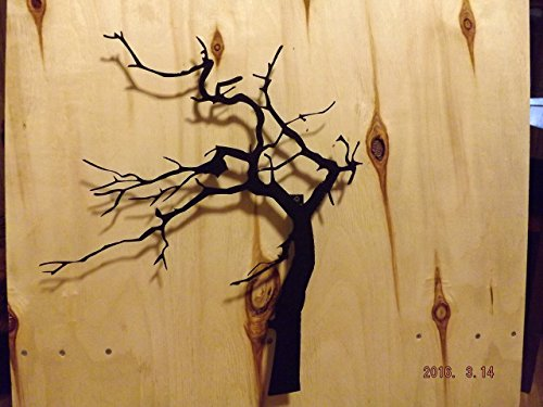 Metal Wall Art, Handmade 3D Wind Blown Tree