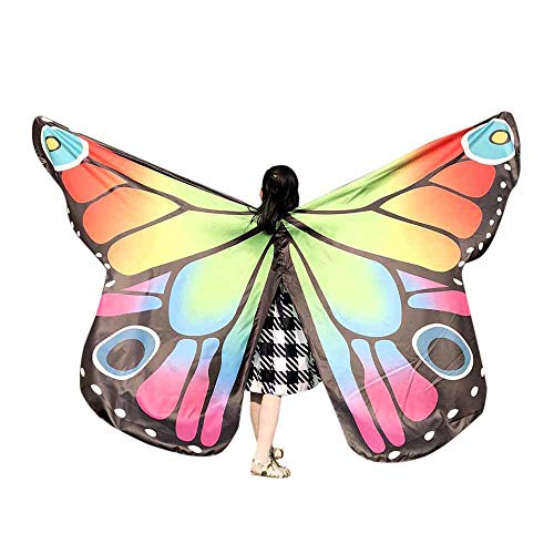 VEFSU Kids Baby Girl Party Belly Dancing Costume Butterfly Wings Dance Accessories No Sticks (B) ()