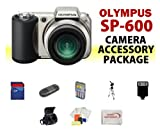 Olympus SP-600UZ Point-n-Shoot Digital Camera ACCESSORY KIT including 8GB SD Memory Card + Memory Card Reader + Extended Life Replacement AA Batteries + Battery Charger + Digital Flash + Soft Carrying Case + Medium Size Tripod + MORE!