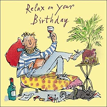 Greetings Card Wdm4593 Male Birthday Quentin Blake Amazon