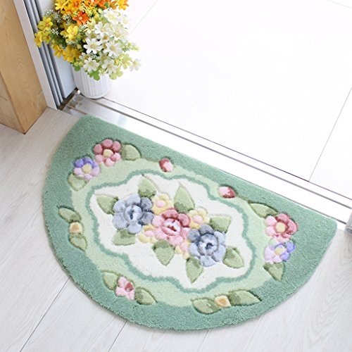 @home rugs Non-slip / Absorbent Mats Semicircle Doorway Indoor Outdoor Kitchen Corridor Entrance Bathroom With Bathroom Rub The Mat ( Color : A , Size : 40x67cm )