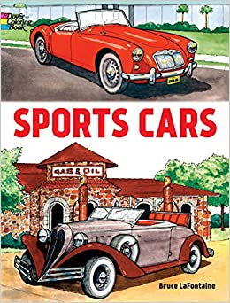 Sports Cars (Dover Coloring Books): Bruce LaFontaine: 9780486408026 ...