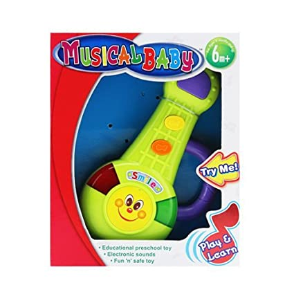 Amazon Com Okk Toys Musical Baby Smile Guitar In Try Me Sound