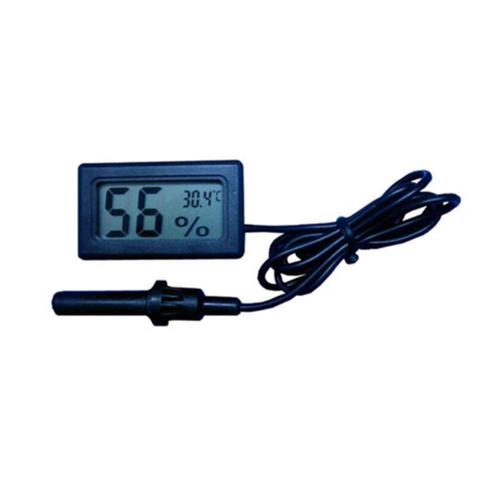 Voraca Digitales eingebettetes Thermometer Hygrometer für Inkubator Geflügel Reptilien Schwarz
