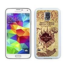 Custom Samsung Galaxy S5 Case Protective <Neo Hybrid> <Satin Silver> Slim Fit Dual Protection Cover for Galaxy S5 and Galaxy S5 Prime(2015)-Satin Silver,,Harry Potter Marauders Map Samsung Galaxy S5 Case White Cover