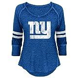 NFL Junior Girls Relaxed 3/4 Thermal Top, New York Giants, Dark Royal, M(7-9)