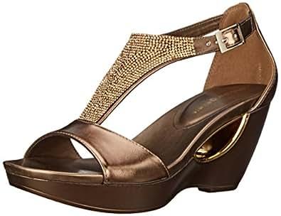 Amazon Com Andrew Geller Women S Arana Wedge Sandal