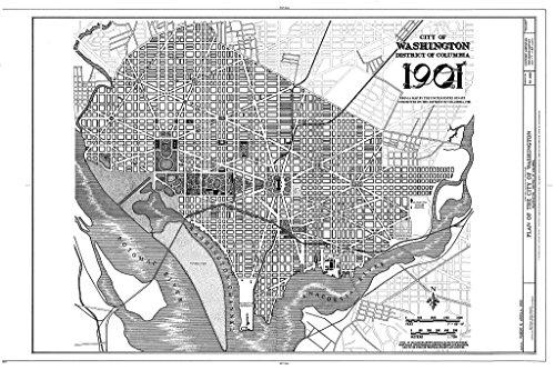 Blueprint Diagram HABS DC,WASH,612- (Sheet 17 of 32) - L'Enfant-Mcmillan Plan of Washington, DC, Washington, District of Columbia, DC 12in x 08in