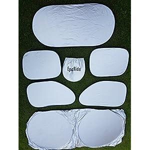EpicRide full 6 Pcs Car Windshield Sunshade UV Protector Folding Silvering,Car Window Sun Shade Visor Shield Cover, Sun Shade UV Reflector, Keeps Vehicle Cool, Sun Protection for Baby Auto Car SUV