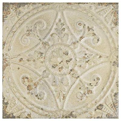"SomerTile FPESAJB Murcia Ceramic Floor and Wall Tile, 13"" x 13"", Blanco"