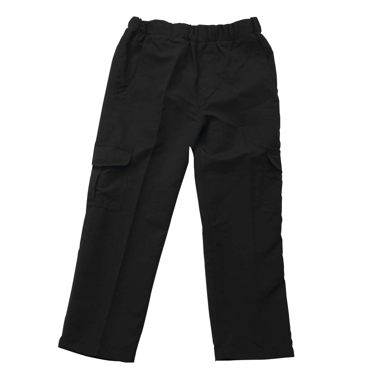 Wes and Willy Black Pull On Cargo Pant