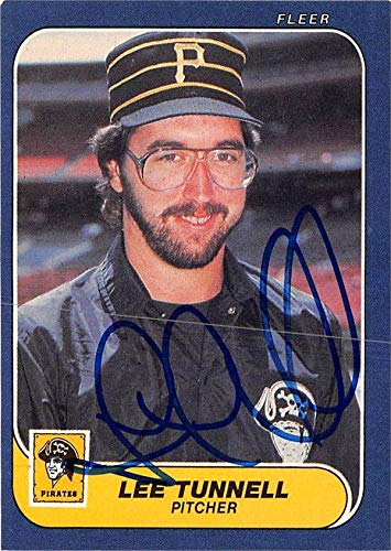 - Lee Tunnell autographed baseball card (Pittsburgh Pirates) 1986 Fleer #623 - Baseball Slabbed Autographed Cards