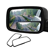 Audew 2 Pack Square Blind Spot Mirror 360° ABS Glass for All Universal Vehicles Car Fit Stick-on Design