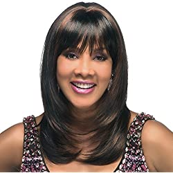 Vivica A Fox Charli-V Full Cap Wig with Adjustable Strap, P2216, 13.1 Ounce by Vivica A Fox
