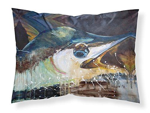 Caroline Bedding (Caroline's Treasures JMK1111PILLOWCASE Blue Marlin Fabric Standard Pillowcase, Large, Multicolor)