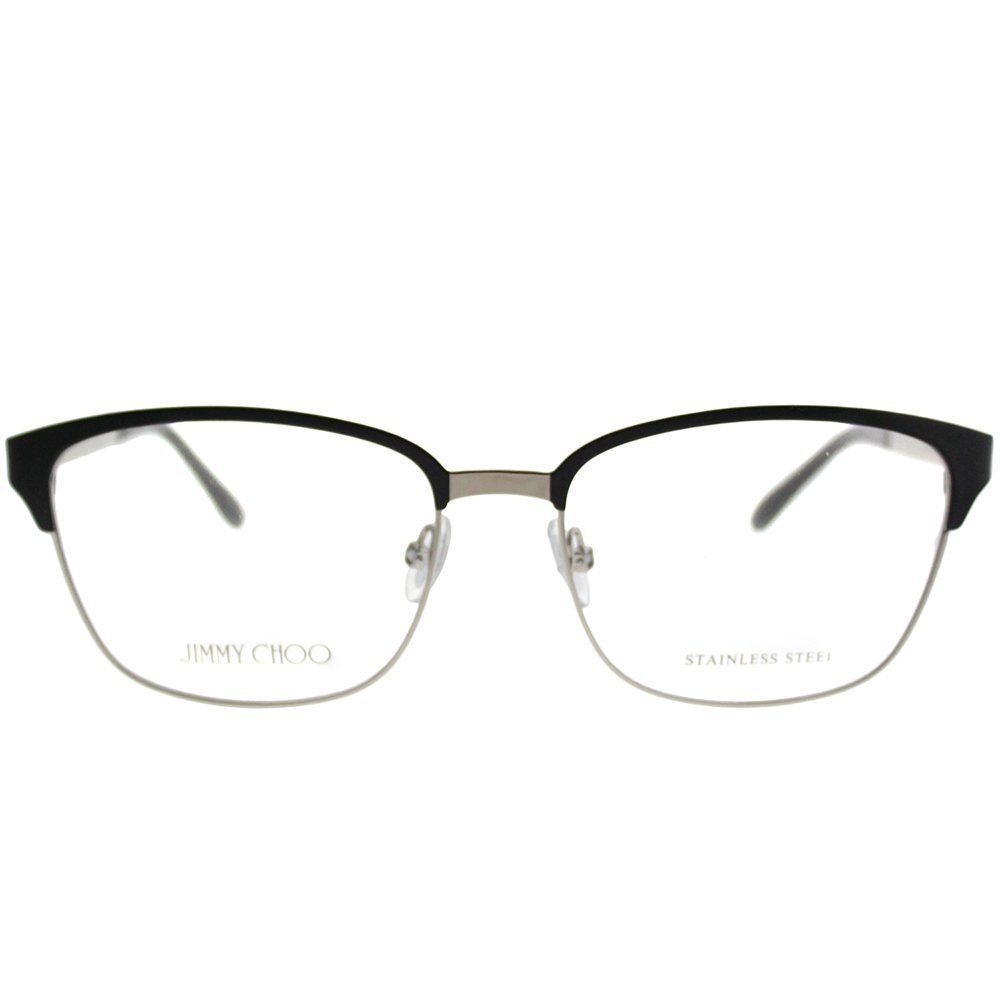 36ff3b59baf4 Amazon.com  Jimmy Choo JC 192 003 Matte Black Metal Rectangle Eyeglasses  54mm  Clothing