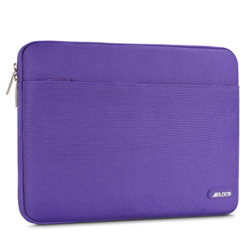MOSISO Laptop Sleeve Bag Compatible 13-13.3 Inch MacBook Pro, MacBook Air, Notebook Computer, Spill Resistant Polyester Horizontal Protective Carrying Case Cover, Ultra Violet