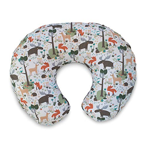 Boppy Original Nursing Pillow Slipcover, Cotton Blend Fabric, Earth Tone Woodland