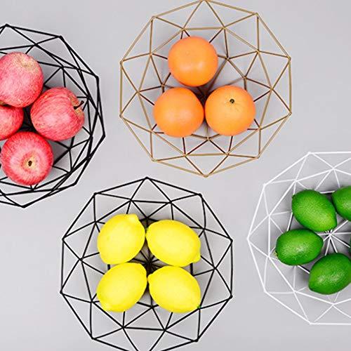 MoGist Fruit Basket Fruit Bowls Storage Stainless Steel Wire Snacks Storage Basket Home Kitchen Art Decoration Fruit Basket, 26 cm - Copper Plated (Golden) by MoGist (Image #3)