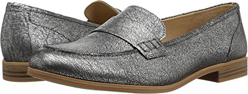 Naturalizer Womens Veronica Slip On Loafer  Silver  8 5 M Us