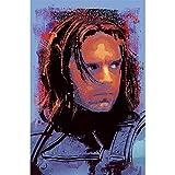 Sebastian Stan Bucky Barnes Splatter Paint Pop Art, 11 x 17 Winter Soldier Abstract Poster -  Dare Studios