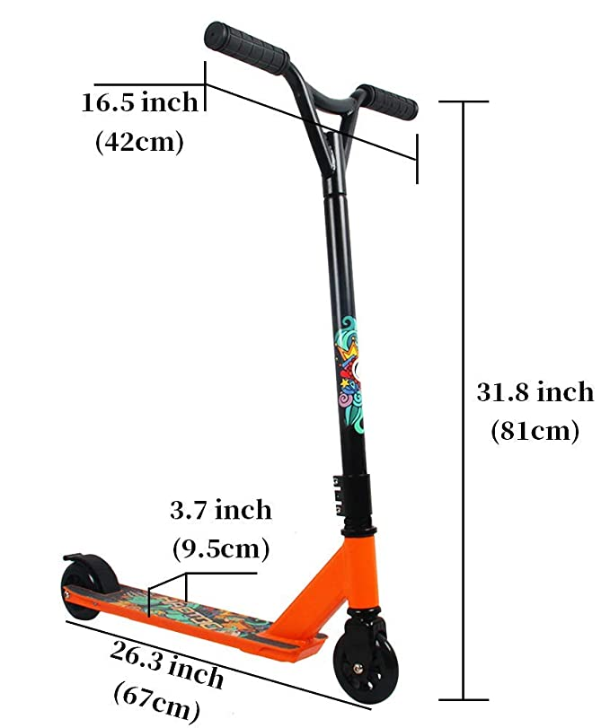 Amazon.com: HAPTOO Stunt Scooters, para adultos jóvenes ...