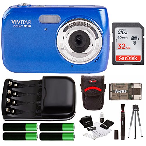 Vivitar VS126 16.1 Mega Pixel Digital Camera w/Accessory Kit - Blue by Vivitar
