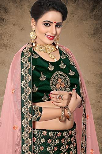 Facioun Women Green Ethnic Indian Choli Traditional Partywear Designer Da 15 Lehenga dwOqfd