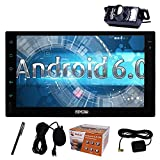 Backup Camera/External Microphone + 7 inch Android 6.0 Marshmallow Car Stereo - 2 Din in Dash GPS Navigation Bluetooth Radio Touch Pen - Support Dual Cam-IN, Phone Mirror, USB, OBD2, 3G/4G, WIFI