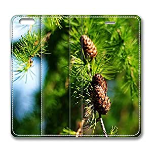 iPhone 6 Case, iPhone 6 Leather Case, Fashion Protective PU Leather Slim Flip Case [Stand Feature] Cover for New Apple iPhone 6(4.7 inch) - Pine Cones Spring