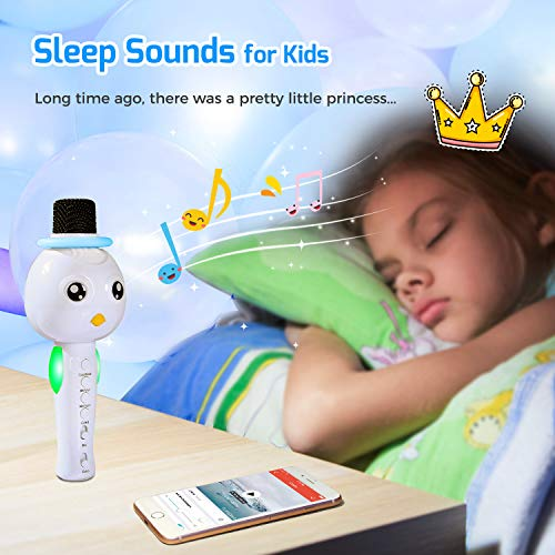 TONOR Kids Microphone, Wireless Portable Karaoke Bluetooth Mic for Kids with Speaker and Colorful Lights for Home Party KTV Birthday Gift Compatible with PC/iPad/iPhone/Android Smartphone by TONOR (Image #4)