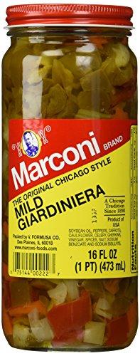 Marconi, Mild Giardiniera, 16 oz (Best Italian Beef Sandwich)