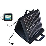 Gomadic SunVolt High Output Portable Solar Power Station designed for the Maylong FD-220 GPS For Dummies - Can charge multiple devices with outlet speeds