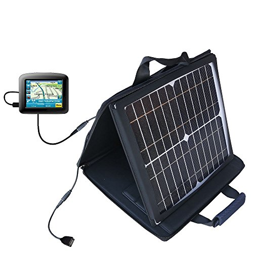 Gomadic SunVolt High Output Portable Solar Power Station designed for the Maylong FD-220 GPS For Dummies - Can charge multiple devices with outlet speeds by Gomadic