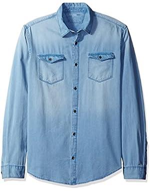Calvin Klein Jeans Mens Denim Shirt
