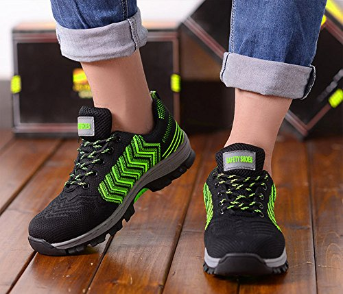 2018 Men Steel-Toe Safety Shoes Fashion Hiking Boots Construction Work Shoes by AiKim (Image #6)