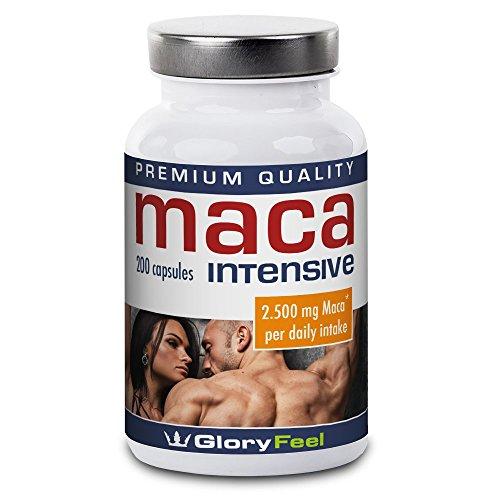 Maca Root Capsules High Strength - 2500mg Maca Powder per Capsule - 200 Vegan Caps (Up to 7 Month Supply) by GloryFeel