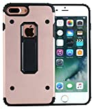 "Plus Case,Iphone 7 Plus (5.5"") Case,TAIYANYU(TM) Metal Backplane Edge Angle TPU Gear Design Dual Layer Rugged Shockproof Anti Scratch Protective Cover Case for Apple iPhone 7 5.5 Plus Inch (Rose Gold)"