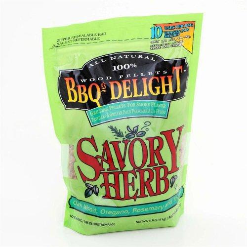 BBQr's Delight Savory Herb Grilling Pellets - 1lb Bag by BBQr's Delights