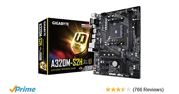 Amazon com: GIGABYTE GA-A320M-S2H (AMD Ryzen AM4 / MicroATX
