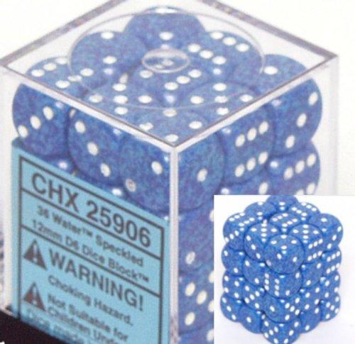 超ポイントアップ祭 Chessex Dice Sets: d6 Sets: Water Speckled - 12mm Six Sided Dice Sided Die (36) Block of Dice B000RZQMHI, トヨオカシ:36962e00 --- cliente.opweb0005.servidorwebfacil.com