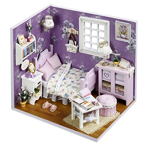 Flever Dollhouse Miniature DIY House Kit Creative Room With Furniture and Cover for Romantic Artwork Gift(Sweet Sunshine) from Flever